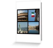 Italian icons Greeting Card