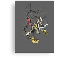 My Little Pony - MLP - FNAF - Discord Animatronic Canvas Print