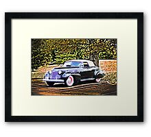 1940 CADILLAC COUPE RESTING IN SHADE Framed Print