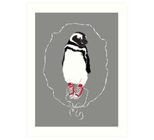 Happy Penguin in Converse Art Print