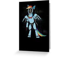 My Little Pony - MLP - FNAF - Rainbow Dash Animatronic Greeting Card