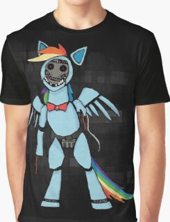 My Little Pony - MLP - FNAF - Rainbow Dash Animatronic Graphic T-Shirt