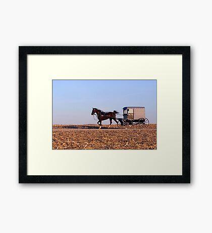 Amish Commute Framed Print