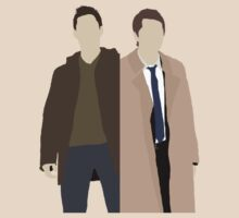 Destiel (Dean and Cas) minimalist t-shirt/sticker by Hrern1313