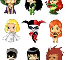 Chibi Villainesses by artwaste