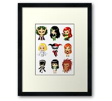 Chibi Villainesses Framed Print