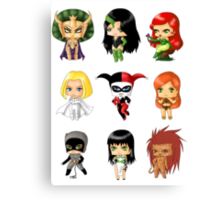 Chibi Villainesses Canvas Print