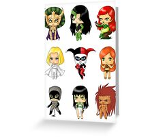 Chibi Villainesses Greeting Card