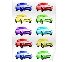 MGB GT Sports Cars Poster