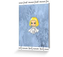Chibi Emma Frost Greeting Card