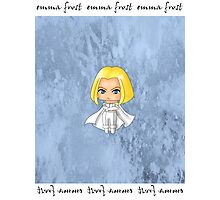 Chibi Emma Frost Photographic Print