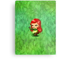 Chibi Poison Ivy Metal Print