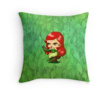 Chibi Poison Ivy Throw Pillow