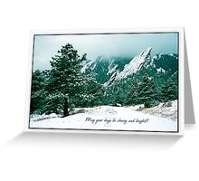 May Your Days Be Cheery and Bright Greeting Card
