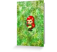 Chibi Poison Ivy 2 Greeting Card