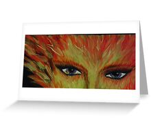 fire eyes Greeting Card