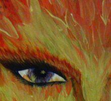 fire eyes Sticker