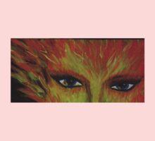 fire eyes One Piece - Short Sleeve