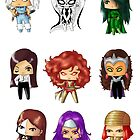 Chibi Villainesses 2 by artwaste