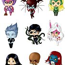 Chibi Villainesses 3 by artwaste