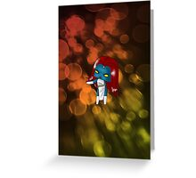 Chibi Mystique Greeting Card
