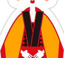 Geisha with origami crane Sticker