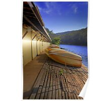Audley Boatshed at Dawn Poster