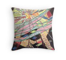 Explosion of Creativity Throw Pillow