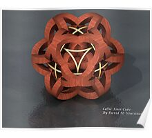 Celtic Knot Cube Poster