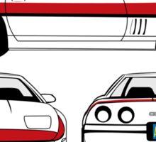 Face 1984 A-Team Chevrolet Corvette schematic Sticker