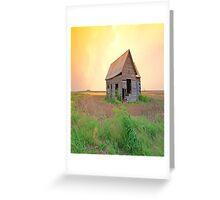 Sunset On The Land,......Oklahoma Greeting Card