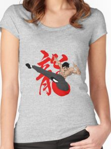 The Dragon Kick Women's Fitted Scoop T-Shirt