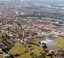Anfield & Goodison Aerial photo by John Maxwell