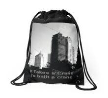 Crane Drawstring Bag