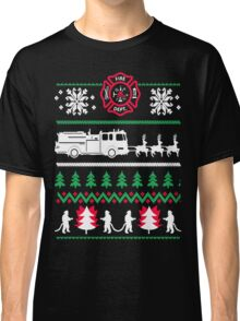 Firefighter Ugly Christmas Classic T-Shirt