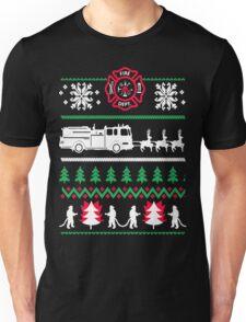 Firefighter Ugly Christmas Unisex T-Shirt