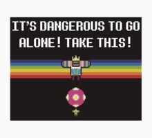 It's dangerous to go alone! Sticker by rydiachacha
