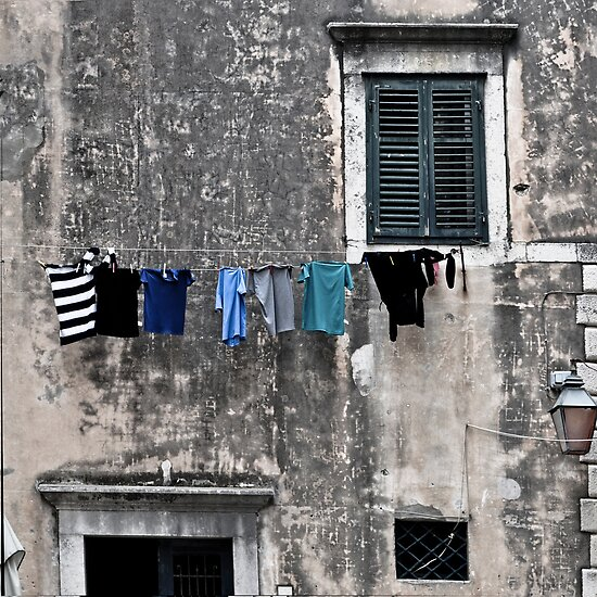Laundry Day Dubrovnik, Croatia by Thomas Barker-Detwiler