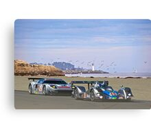 Racing on the West Coast Canvas Print