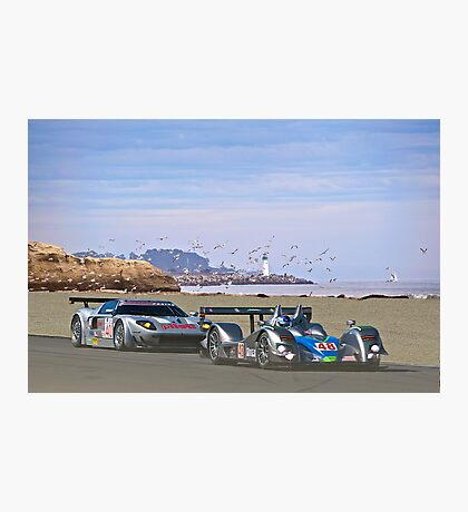 Racing on the West Coast Photographic Print