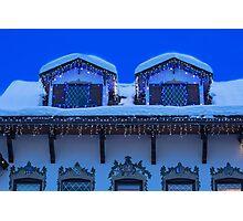 Christmas in Leavenworth at Twilight Photographic Print