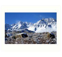 Scenic Sierra Snow Scene  Art Print