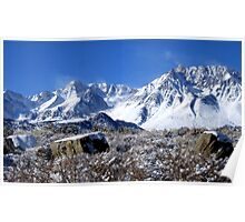 Scenic Sierra Snow Scene  Poster