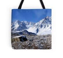 Scenic Sierra Snow Scene  Tote Bag