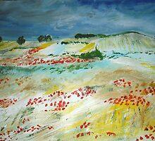Poppy Field (van Gogh Interpretation - Wall Art by JamesPeart