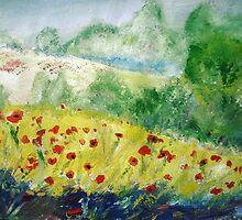 Poppy Field (Monet Interpretation) - Wall Art by JamesPeart