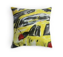 New York Taxis - Wall Art Throw Pillow