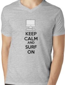 Keep calm and surf on Mens V-Neck T-Shirt