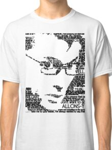 David Tennant 10th Doctor Word Portrait T-Shirt Classic T-Shirt