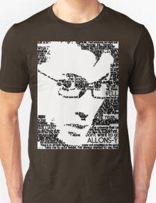 David Tennant 10th Doctor Word Portrait T-Shirt T-Shirt